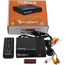 Kit Completo Tv Digital - Conversor Digital Gravador Hdmi + Antena Uhf + Cabo - Century