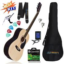 KIT Completo Violão Acústico Aço GS-11NT Harmonics -