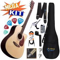 Kit completo Violão Folk Elétrico Md18 NT Tagima -