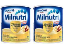 Kit Composto Lácteo Milnutri Banana e Maçã - Vitamina de Frutas 760g 2 unidades