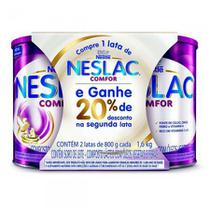 Kit Composto Lácteo Neslac Comfor 800g com 2 Unidades -