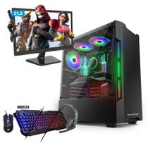 Kit - computador gamer neologic intel i3-7100 gtx 1050ti  8gb 1tb monitor 21,5 nli68710 -