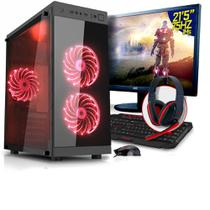 Kit - computador + monitor 21,5 gamer 75hz intel i5-7400 8gb hd 1tbgtx 1050ti neologic nli80151 -