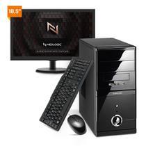Kit - Computador Neologic NLI81904 Intel Core i3 10100 10º Geração 8Gb 1TB + Monitor 18,5 -