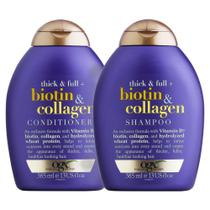 Kit Condicionador OGX Biotin & Collagen 385ml + Shampoo OGX Biotin & Collagen 385ml -