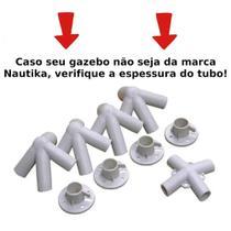 Kit Conectores Reposicao 9 Pecas para Tenda Gazebo 3x3 M Base e Topo  Nautika -
