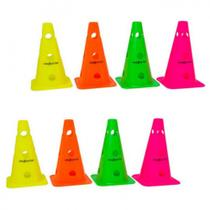 Kit Cones de Agilidade 23 Cm com 8 Unidades Proaction -