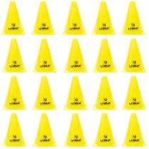 Kit Cones de Agilidade para Treinamento 18 Cm Amarelo 20 Unidades  Liveup -