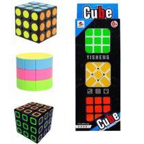 Kit Conjunto 3 Cubo Mágico Antistress 3x3 Speed - Toy King