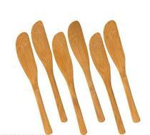 Kit Conjunto 6 Faquinhas Espatula Bambu Manteiga Pate 14cm - Welf