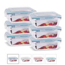 Kit Conjunto 6 Potes Vidro Hermético Tampa Plástico Marmita Mantimentos 370ml - Casa Linda