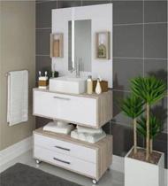 Kit Conjunto de Banheiro Class 900 - 80cm - Kit C/ Cuba E Espelho - Outlet Das Fábricas