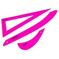 Kit conjunto de régua para costura rosa eco - Westpress