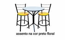 kit Conjunto Jogo Mesa e 4 Banqueta Jadi -