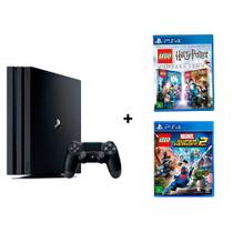Kit Console Playstation Sony 4 Pro CUH-7114B 1TB + Lego Harry Potter Collection + Lego Marvel Super -