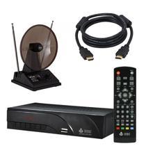 Kit Conversor Digital + Antena + Cabo HDMI Preto INFOKIT/HYX/LITE -