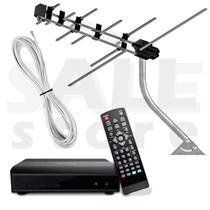 Kit Conversor Digital Full Hd + Antena Externa + 8m Cabo - Ybx