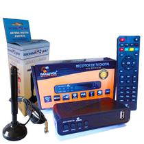KIT Conversor Digital P/ TV  Antena Interna c/imã Cabo de 5M - Imagevox