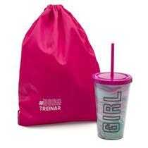 Kit copo e mochila sacola musa fitness - Imaginarium