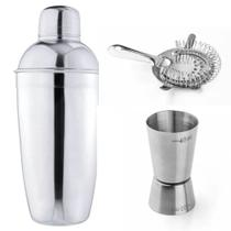Kit Coqueteleira Dosador Coador de Bebidas Inox Attuale - Plasvale