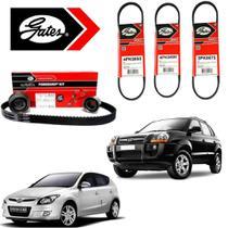 Kit Correia Dentada e Auxiliar Hyundai I30 Tucson 2.0 16V Gates -