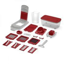 Kit Cortador de alimentos 21 Peças - Descascador, Ralador, Corte Quadrado e Espiral UP Home - UD005 - Multilaser