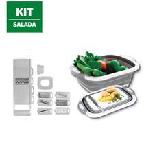 Kit Cortador Legumes Alimentos 8 Peças Bacia 3 em 1 Salada - 123Útil