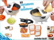 Kit Cortador Legumes Fatiador Manual Inox 7em1 e Quick 5em1 - m&c