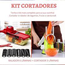 Kit Cortador Legumes Fatiador Picador Batata Ralador 3 Lâminas - PenselarFun