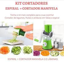 Kit Cortador Legumes Utensilios Cozinha Fatiador Verduras Descascador Espiral - Penselar Fun