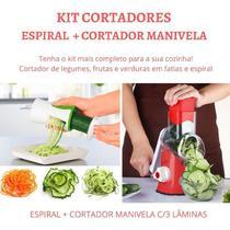 Kit Cortador Legumes Utensilios Cozinha Fatiador Verduras Descascador Espiral - Penselarfun