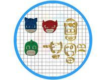 Kit Cortadores Lutadores Modulares - Docinhos 3cm - ARTBOX3D
