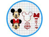 Kit Cortadores Pasta Americana Confeitaria Mickey E Minnie - Artbox3D