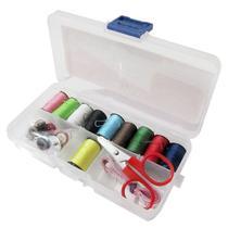 Kit Costura 32 Peças Para Pequenos Reparos Com Estojo - Unicasa