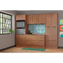 Kit Cozinha 07 Peças 5452R Calábria - Balcão Pia Sem Tampo - Multimóveis -