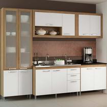 Kit Cozinha 5 Módulos 5710-T6 Com Vidro - Toscana - Multimóveis -