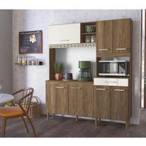 Kit Cozinha 7Portas Yara 160 Cm Evora Rust Off White Nicioli -