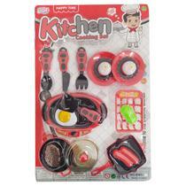 Kit Cozinha Brinquedo Infantil 17 Peças Panelinhas Gourmet - Spider