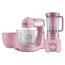 Kit Cozinha Britânia Cristal Pink BKT21 -