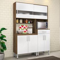 Kit Cozinha Carol Movemax Terraro / Branco -