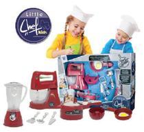 Kit Cozinha Chef Kids Little com 9 Peças, Batedeira e Acessórios - Ref. 5301 - Zuca toys
