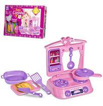 Kit cozinha com fogao + panela bela cozinha e acessorios 7 pecas na caixa - Zuca toys
