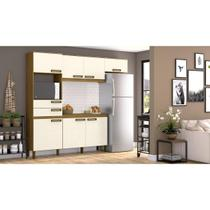 Kit Cozinha Compacta 07 Portas 02 Gav Nature/Off White - Briz - Henn