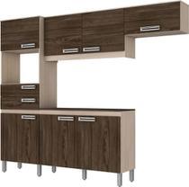 Kit Cozinha Compacta 7 Portas 2 Gavetas Briz Fendi com Moka - Móveis Briz