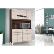Kit Cozinha Compacta Manu 08 Portas Capuccino/Amêndoa - Poquema -