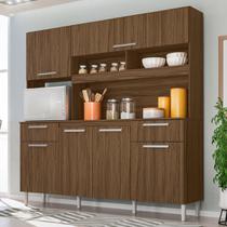 Kit Cozinha Compacta Olinda 6 Portas Castanho Tannat - Moval -