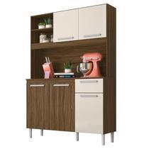 Kit Cozinha Compacta Prado 5 Portas Castanho/Baunilha - Moval -