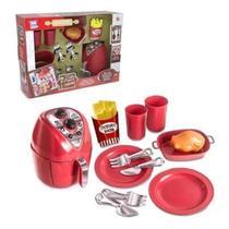 Kit Cozinha De Brinquedo Air Fryer Chef Kids 12 Peças - Zuca Toys