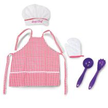 Kit Cozinha Infantil Avental Chapéu E Luva Gran Chef - Nig - Nig Brinquedos