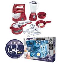 Kit cozinha infantil batedeira e acessorios chef kids 9pecas - Zuca Toys